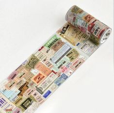 Vintage Ticket Washi Tape for your Crafting Needs Size: width x length Perfect for journals, planners, calendars and schedule books. Washi Tape Diy, Masking Tape, Duct Tape, Duck Tape Crafts, Cute School Supplies, Wallet Tutorial, Planner Decorating, Collages, Color Crafts