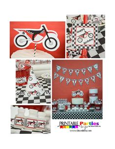 Motorcycle, MX, Dirt Bike Birthday Party Ideas   Photo 29 of 57