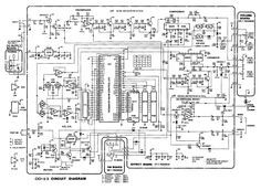 Schematic diagram of the Boss Digital Delay guitar effect pedal Electronics Basics, Electronics Projects, Guitar Effects Pedals, Guitar Pedals, Diy Guitar Pedal, Electronic Schematics, Pedalboard, Digital, Vintage