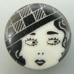 Vintage flapper button