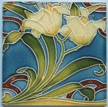 Antique Minton China Works Art Nouveau Tile
