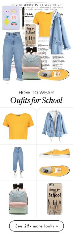 """Autumn school outfit"" by hankaes on Polyvore featuring Fountain, Étoile Isabel Marant, Vans, Boohoo and Casetify"