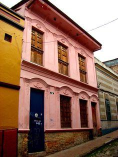 Old houses at La Candelaria. Bogotá, Colombia