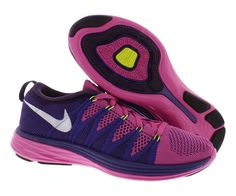 d3dda518875 Nike Women s Flyknit Lunar 2 Purple Multi Running Trainer Shoes US 6.5   gt  gt