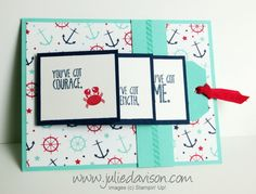 VIDEO Tutorial: Sea Street Waterfall Card - Julies Stamping Spot -- Stampin Up! Project Ideas Posted Daily