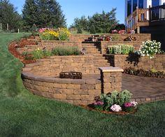 retaining wall ideas   Versatile VERSA-LOK Retaining Wall Systems Are a DIY Landscaper's Best ...