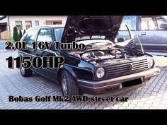Brutal Golf Mk2 1150HP 16V Turbo Acceleration from Boba-Motoring!!! Full Video