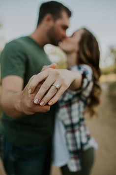 The perfect engagement announcement photo with a gorgeous engagement ring!