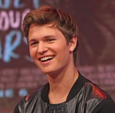 Ansel elgort. like your neighbors sons. when you with him you feel free with friend, big smile. sweet eyes. omg i fall in love with him in The fault in our star already.