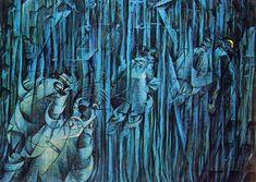 Umberto Boccioni,Quelli che restano (secondo ciclo),1911,Collezione privata.