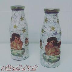 No damos a basto y nos encanta  ✴trabajo de Rosa Mari Barrios #craquelado #decoupage #botella #cristal #ángel #chalkypaint #chalkpaint #fleurpaint #engel #botle #glass #trabajosdealumnos #eskulanak #manualidades #diy #chalkpaintdonosti #chalkpaintsansebastian #handmade #reciclado #recycling #elbuhodecloe en la #asociacioncultural de #argoiak en #irun