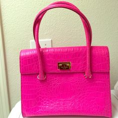 New Price❗️Kate Spade Handbag  Beautiful hot pink orchard valley Sinclair Kate Spade handbag. Very clean on the inside and very minimal wear on the outside. Comes with original Kate Spade dust bag. If you have any additional questions feel free to comment below. No trades Thank you  kate spade Bags Totes