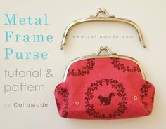 Caila-Made: Metal Frame Purse Tutorial and Pattern #sewing #clutch