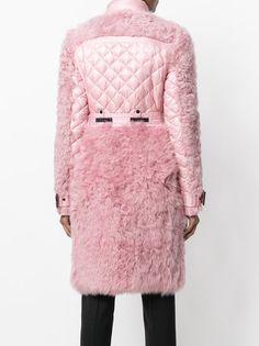 Moncler Grenoble пальто с отделкой под овчину