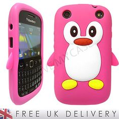 BlackBerry 9320 / 9220 / Curve / Cute Penguin Soft Gel Case / Pink / NEW | eBay