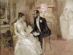 """Albert Edelfelt: """"The dance scene"""" 1884"""