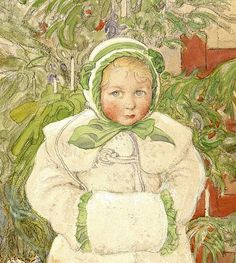 https://flic.kr/p/pTDa4a | Carl Larsson 'Girl and Rocking Chair' (detail)1907 | Carl Larsson [Swedish painter of the Arts and Crafts Movement.1853-1919].  One of Sweden's most beloved painters.  Watercolor on paper Malmö Art Museum, Sweden