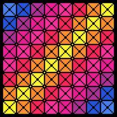 Square Cross Stitch Pattern Modern Geometric Squares Cross