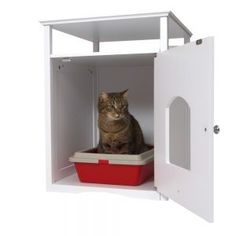 Covered Litter Boxes: great selection at zooplus: Wooden Pet Room