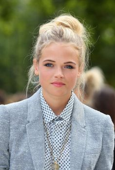 Gabriella Wilde attends the front row for the Burberry Prorsum show on day 4 of London Fashion Week Spring/Summer 2013 on September 17 2012 in London...