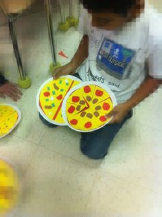 Adventures of a Third Grade Teacher: Equivalent Fraction Pizzas