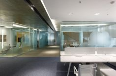 For a company that provides administrative management for terminals of several regional airports, the architects have chosen the space in a modern office building in the center of Moscow. Architects decided to form mo. Visual Merchandising, Office Images, Office Space Design, Moscow Russia, Design Furniture, Stores, Interior Design, Architecture, Modern