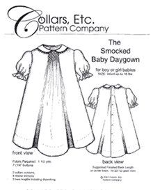 Smocked Baby Daygown pattern by Collars, Etc. Pattern Co.