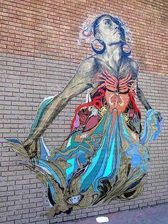Portrait of Silvia Elena. Swoon. New Hampshire @Jonathan Schotte Street in San Francisco, CA. #street art #graffiti