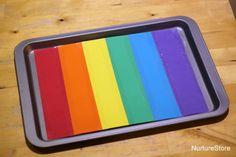 Rainbow salt tray.