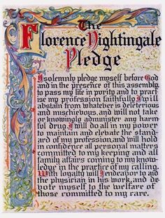 The Florence Nightingale Pledge ~ stated by my class from memory at our capping ceremony late I then proudly wore my new nurse cape with my cap! Nursing Board, Nursing Pins, Nursing Notes, Pinning Ceremony, Nurse Art, Nursing Profession, Hello Nurse, Florence Nightingale, Vintage Nurse