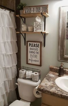 Looking for for inspiration for farmhouse decor? Browse around this site for amazing farmhouse decor images. This kind of farmhouse decor ideas seems absolutely wonderful. Rustic Bathroom Decor, Farmhouse Decor, Bathroom Ideas, Bathroom Storage, Farmhouse Style, Bathroom Organization, Bathroom Vanities, Farmhouse Ideas, Toilet Room Decor