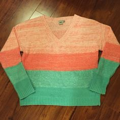 ASOS Oversized V-Neck Chunky Sweater Fun and colorful oversized sweater from ASOS.  Perfect condition.  Measurements available upon request.     👍🏻👍🏻 Bundle and SAVE! 👍🏻👍🏻 🛍 10% off 2 or more items 🛍 🙅🏻🙅🏻 NO TRADES 🙅🏻🙅🏻 🚫🚫NO MODELING🚫🚫 ASOS Sweaters