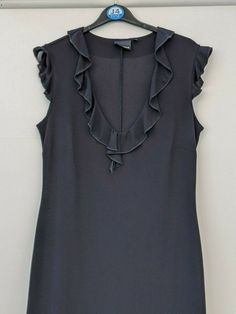 Hyphen Black Dress Straight V-neck Party Size 14 (562) #Hyphen #PencilDress #PartyCocktail