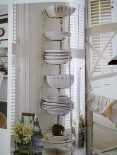 White dishes (pinned from Cabin & Cottage)