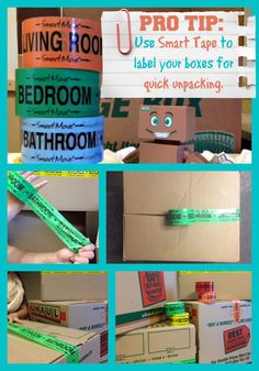 Make unpacking a simple process; label your boxes with Smart Move Tape or a permanent marker | Packing Tips