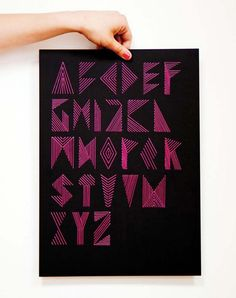 embroidered text and typography that are just remarkable -- by Poland-based designer Nina Gregier