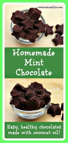 These homemade mint chocolates are made with coconut oil and sweetened with honey. Make these easy, healthy chocolates today!