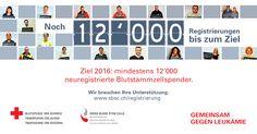 Gemeinsam gegen Leukämie: neues Ziel für 2016 - Blutspende SRK Schweiz