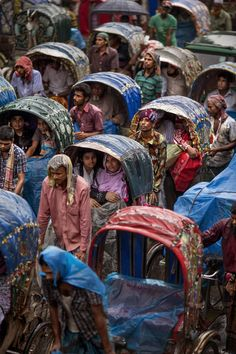 Dhaka, Bangladesh, is said to be the rickshaw capital of the world, with hundreds of thousands in circulation.