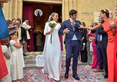 La boda de la hija pequeña de Jaume Matas en Mallorca - Los novios, tras pasar por el altar.