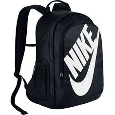 Nike Hayward Futura 2.0 Backpack - BLACK/BLACK/(WHITE) - School... ($39) ❤ liked on Polyvore featuring bags, backpacks, black, nike backpacks, nike, nike rucksack, padded bag and padded backpack