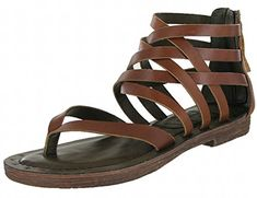 53f4459e8 MIA Women s Lilli Leather Gladiator Flat Sandal (7.5 B(M).