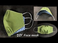 DIY Protective Mask , Easy and Breathable.| หน้ากากอนามันทำเอง แบบมีจีบที่จมูก หายใจสะดวก - YouTube Diy Sewing Projects, Sewing Projects For Beginners, Sewing Hacks, Sewing Tutorials, Sewing Crafts, Easy Face Masks, Diy Face Mask, Diy Mask, Mouth Mask Design