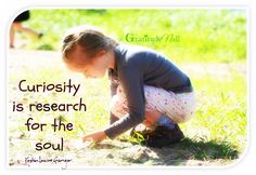 Curiosity is research for the soul ~ Kristin Louise Granger For more inspiration and wisdom, come over to facebook/Gratitudenall