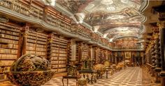 The World's Most Luxurious, Yet Little-Known Library Is In Prague And Will Take Your Breath Away