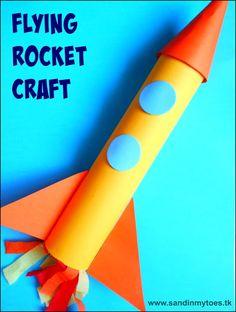 Easy rocket craft tutorial for kids.