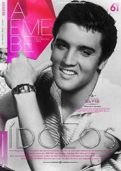 AEMEBE 61  AEMEBE #61 vem com 13 opções de capas trazendo a série, ÍDOLOS com alguns dos maiores ídolos do planeta. O primeiro fascículo com o inesquecível Elvis Presley.
