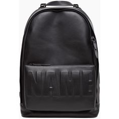 3.1 Phillip Lim Leather Name Drop Backpack (18 080 UAH) ❤ liked on Polyvore featuring bags, backpacks, black, black leather bag, black leather knapsack, black rucksack, leather bags and leather rucksack