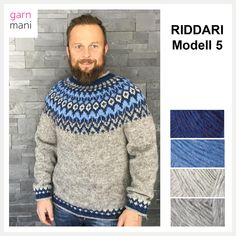 Knit Jacket, Vest, Pullover, Blue Sweaters, Men Sweater, Turtle Neck, Crochet, Knitting, Outfits
