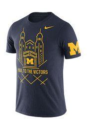 Nike Michigan Mens Navy Blue Campus Elements Tee